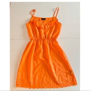 Francesca's Orange Scallop Dress